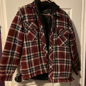 Other - Heavy Quilted Plaid Coat